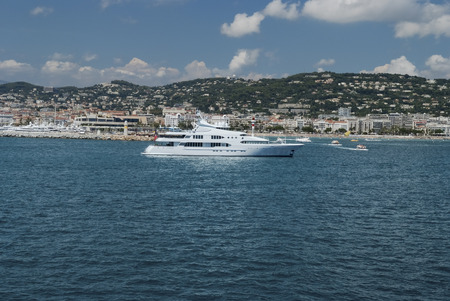 super yacht: Large super yacht anchored at Monte Carlo Stock Photo