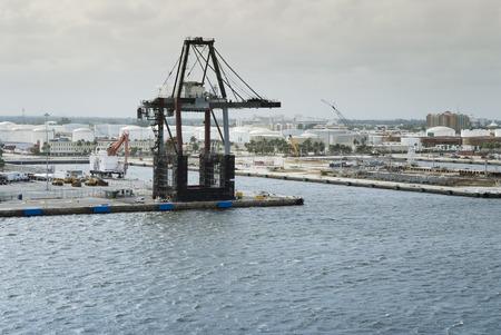 port everglades: Port Everglades industrial harbour, Fort Lauderdale, Florida, USA