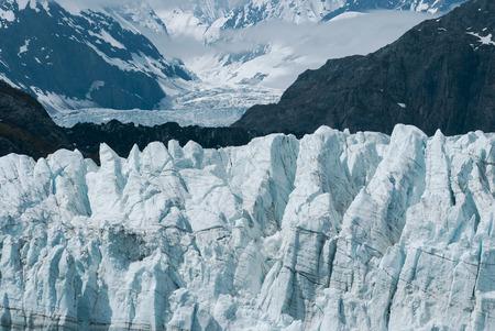 southeast alaska: Up close view of Margerie Glacier at Glacier bay national park in Southeast Alaska