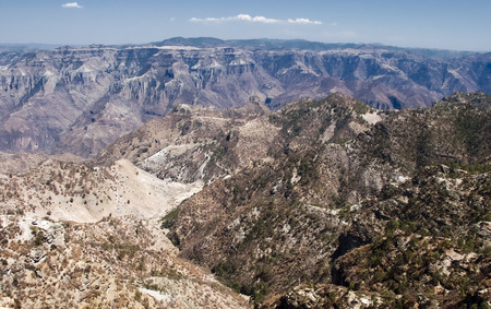 chihuahua desert: Panoramic view of  Copper Canyon,  Chihuahua, northwestern Mexico Stock Photo