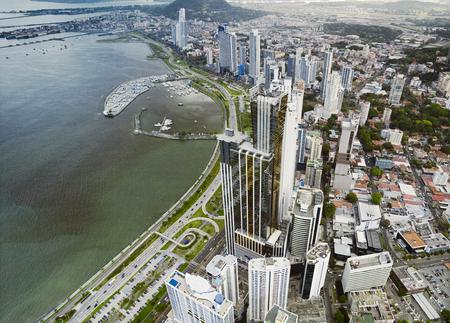 パナマシ ティー, パナマの航空写真 写真素材