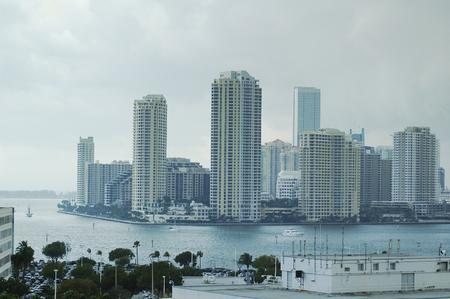 miami florida: Miami, Florida, USA downtown skyline Stock Photo