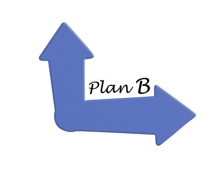 dilemma: Plan B Choice Concept Showing Strategy Change Or Dilemma