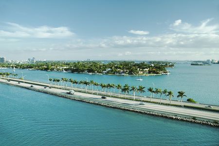 port everglades: Panoramic view of Port Everglades, Fort Lauderdale, USA Stock Photo