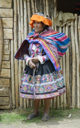 quechua indian: Portrait of a Quechua Indian woman from the Paru Paru Community, Andes Mountains. October 22, 2012 - Paru Paru, Peru Editorial