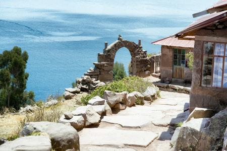 keystone: View toward Lake Titicaca from Taquile Island, Peru
