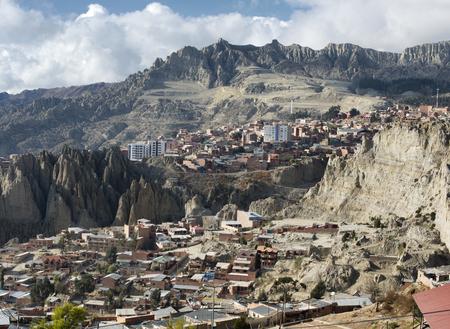 View toward El Alto in La Paz, Bolivia
