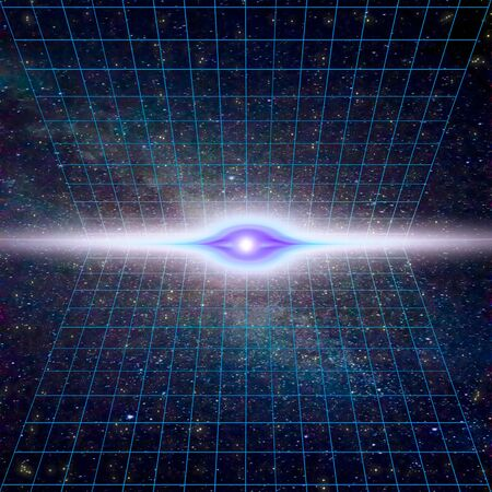 wormhole: Singularity, gravitational waves and spacetime concept. Time Warp - Time Dilation. Quantum mechanics meets general relativity.