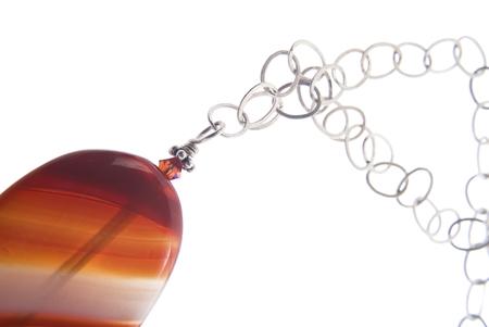 Kehlibar jewelry isolated on white background