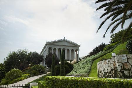 Bahai public gardens and temple on the slopes of the Carmel Mountain in Haifa, Israel