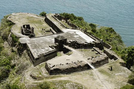 Aerial view of Fort Sherman at Toro Point  Panama Canal  Panama Stock Photo - 99483552