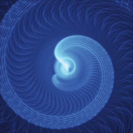 Blue Rotating Swirls. Abstract Spiral Background