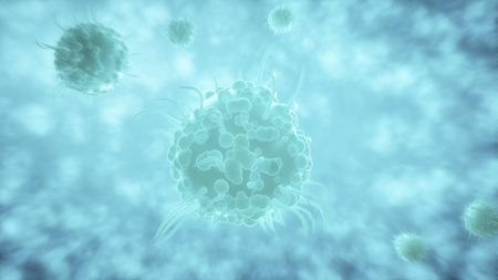 Bacteria spread inside the body.  Infection And Immunodeficiency Concept