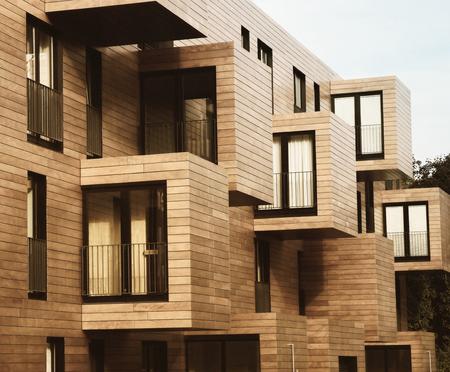 Modern Contemporary Wood Sided Building 版權商用圖片