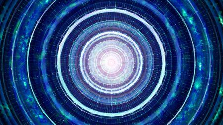Contexte de la technologie futuriste. Espace extra-atmosphérique, technologie extraterrestre et concept de vaisseau spatial
