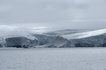Icy Landscape At Neko Harbor, Andvord Bay, Antarctic Peninsula 写真素材