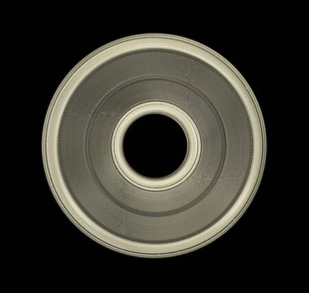 Industrial Steel Disk With Braided Surface isolated On Black Background Stock fotó - 133241427