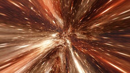 Flying Through Energy Vortex Or Wormhole Tunnel. Singularity  Gravitational Waves And Spacetime Concept