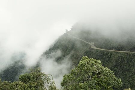 The Death Road - The Most Dangerous Road In The World, North Yungas, Bolivia Stock Photo