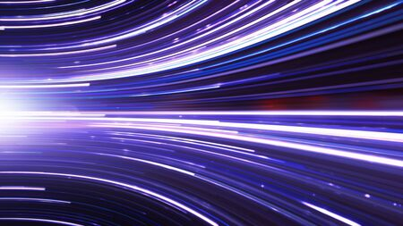 Fiber Optics Transfer Of Information, Cloud Computing And Big Data Concept