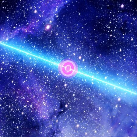 Spinning Pulsar Unleashes Crippling Waves Of Ultra-high-energy Cosmic Rays Radiation. Singularity, Gravitational Waves And Spacetime Concept