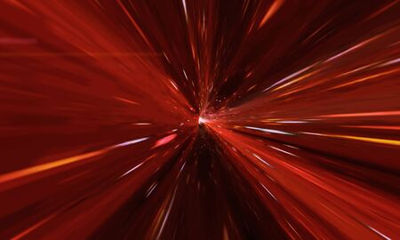 Flying Through Wormhole Tunnel Or Abstract Energy Vortex. Singularity, Gravitational Waves And Spacetime Concept 版權商用圖片
