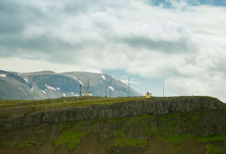 Radio Communication Tower near Reykjavik in Iceland