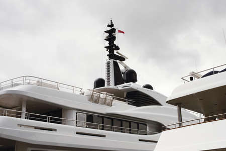 Yacht GPS Navigation, Radar Equipment And Marine Satellite Domes