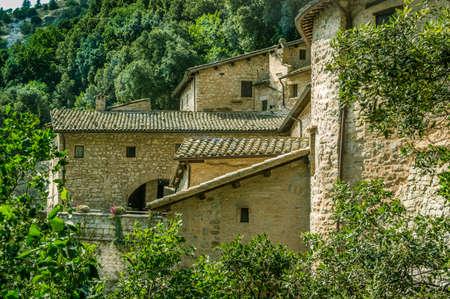 assisi: Eremo delle Carceri   in Assisi Stock Photo