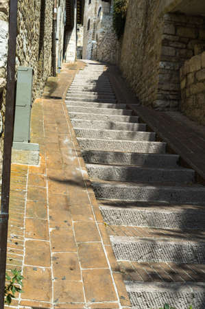 assisi: Stairs in Assisi