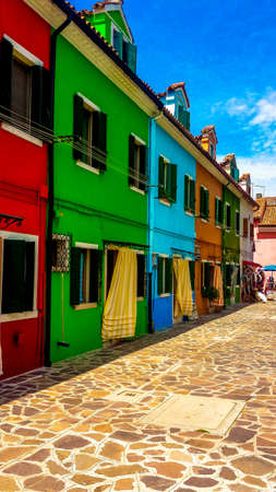 case colorate: Case colorate di Burano Archivio Fotografico
