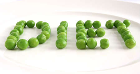 Diet on a plate from peas