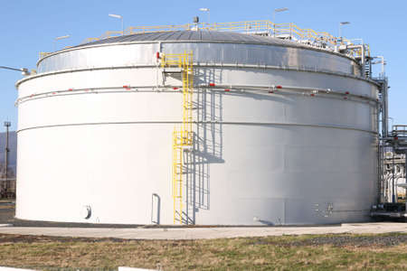 Tank in petrochemical factory