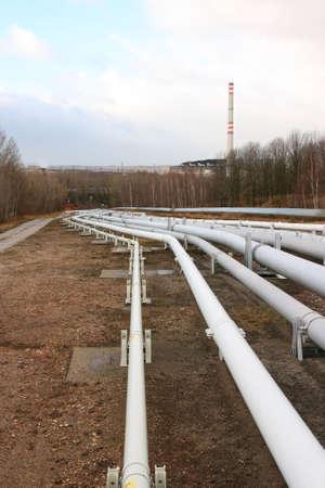 Pipelines leading into the horizon