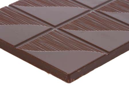 Close up view of dar chocolate bar photo