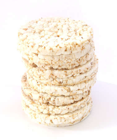 popped: Stack of popped bread - healthy crispy bread