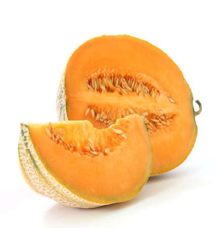 マスクメロン: オレンジ色のメロン スイカ - 北米メロン型
