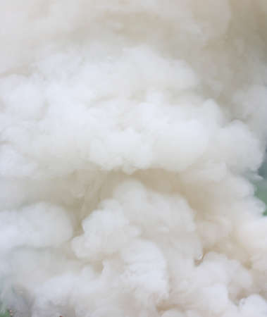 Close up view of dense smoke fumes