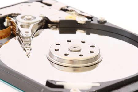 harddrive: Detail view of part of hdd - harddisk - harddrive Stock Photo