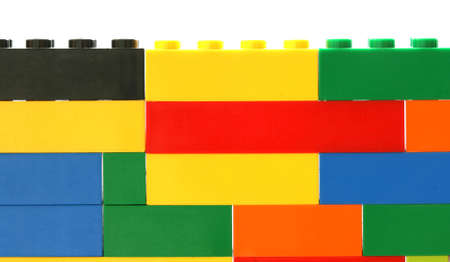noone: Colorful toy brick wall background