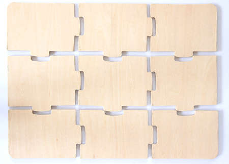 noone: Wooden puzzle toy Stock Photo