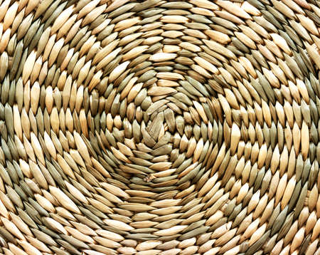 noone: Light wicker background spiral round Stock Photo