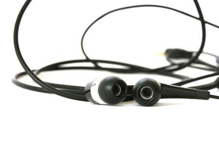 noone: Black headphones on white background