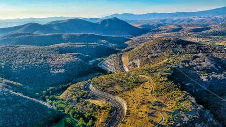 Aerial shot of the Mexico Cuernavaca highway