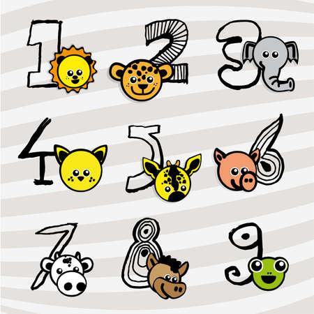 cat s: Numbers animals
