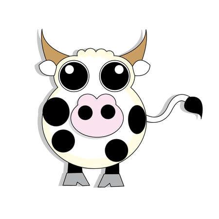 cat s: cute cow Illustration