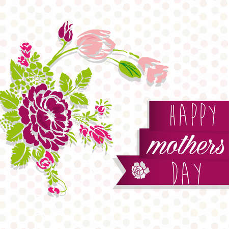 happy mother day Ilustrace