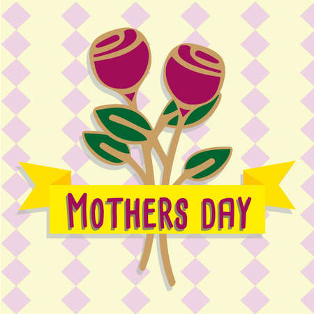 mother day flowers Vector