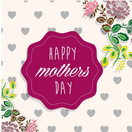 stickers mom day Vector