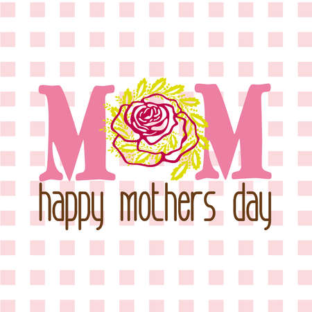 mom flowers Vector